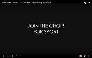 "Click to open the video - ""Join the Choir for Sport"" in a new window"